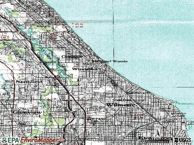 Winnetka topographic map
