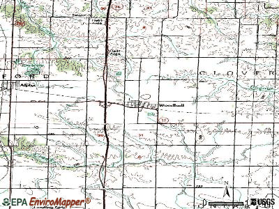 Woodhull topographic map