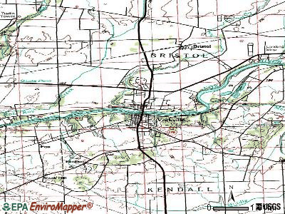 Yorkville topographic map