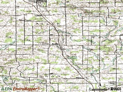 Avilla topographic map