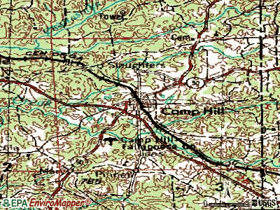 Camp Hill topographic map