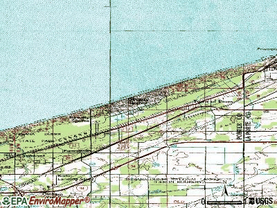 Beverly Shores topographic map