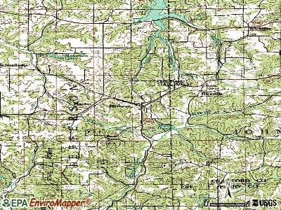 Birdseye topographic map
