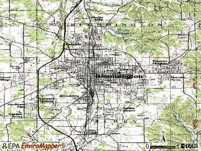 Bloomington topographic map