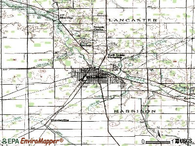 Bluffton topographic map