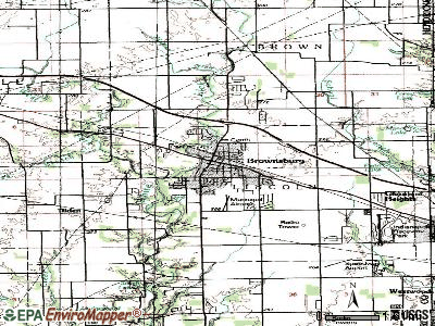 Brownsburg topographic map