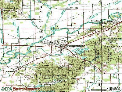 Brownstown topographic map