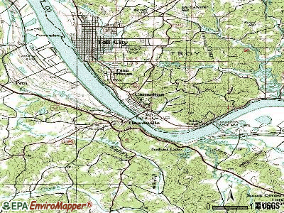 Cannelton topographic map