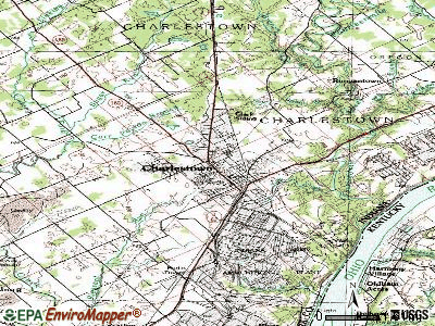 Charlestown topographic map