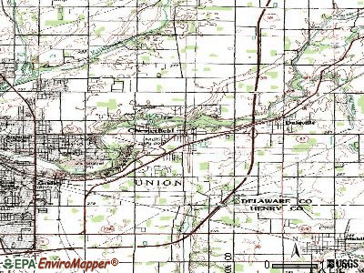 Chesterfield topographic map