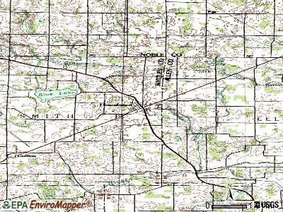 Churubusco topographic map
