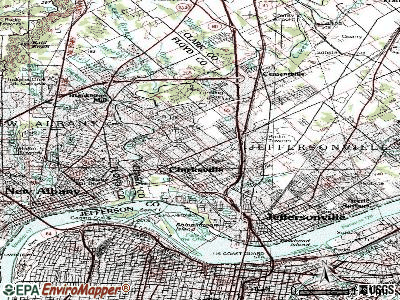 Clarksville topographic map