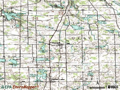 Claypool topographic map