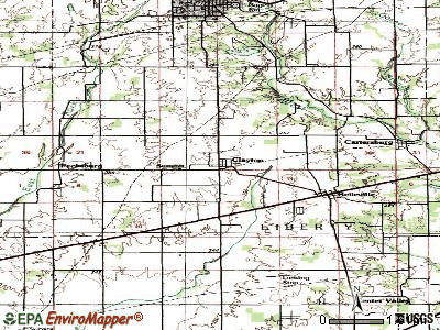 Clayton topographic map