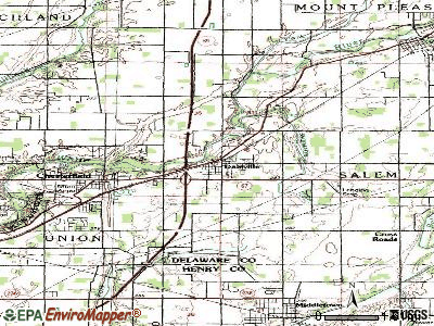 Daleville topographic map