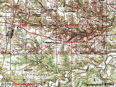 Dillsboro topographic map