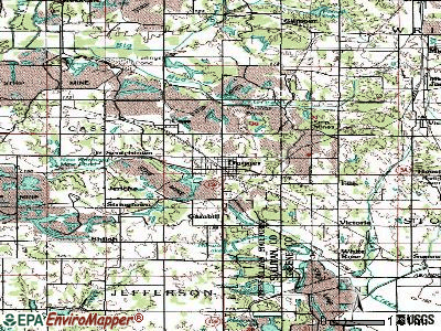 Dugger topographic map