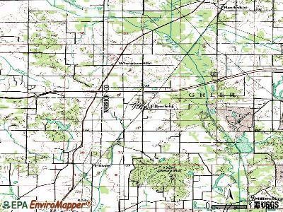 Elberfeld topographic map