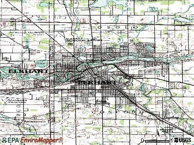 Elkhart topographic map