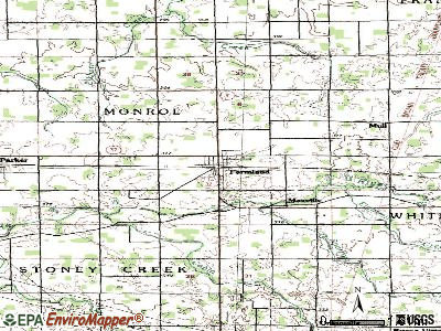 Farmland topographic map