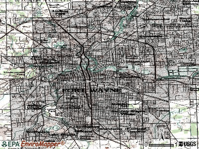 Fort Wayne topographic map