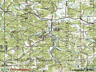 French Lick topographic map