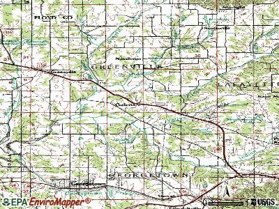 Galena topographic map