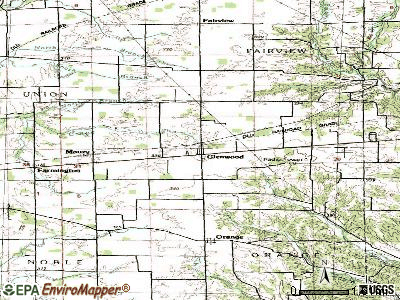 Glenwood topographic map