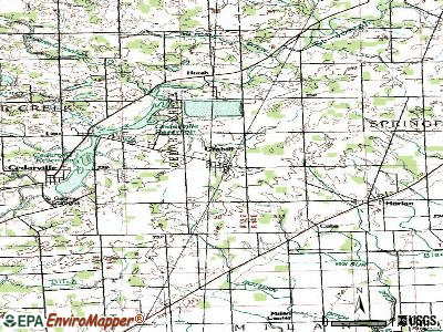 Grabill topographic map