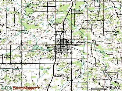 Huntingburg topographic map
