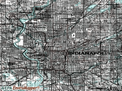 Indianapolis topographic map