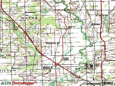 Jonesville topographic map