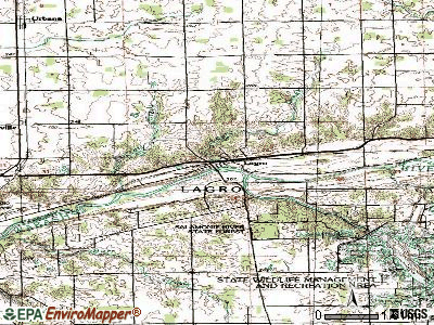 Lagro topographic map