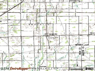 Lewisville topographic map
