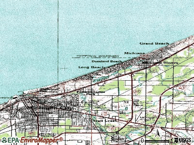 Long Beach topographic map