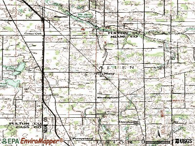 Macy topographic map