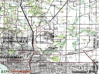 Melody Hill topographic map