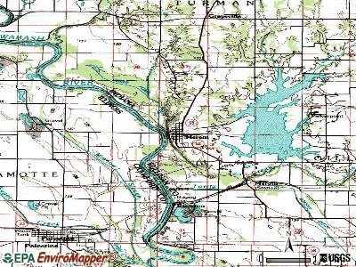 Merom topographic map