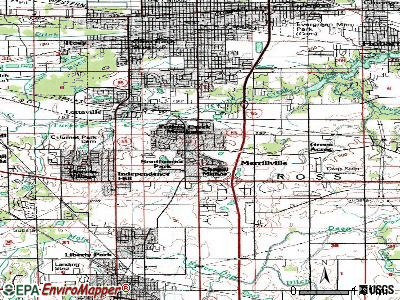 Merrillville topographic map