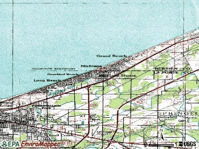 Michiana Shores topographic map