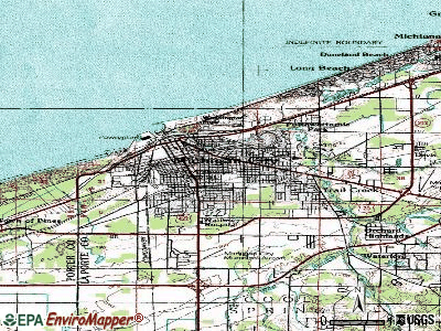 Michigan City topographic map