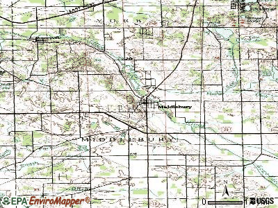 Middlebury topographic map