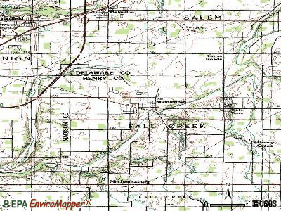 Middletown topographic map