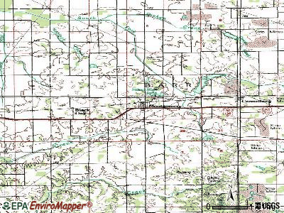 Montgomery topographic map