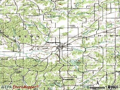 Morgantown topographic map