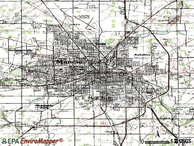 Muncie topographic map