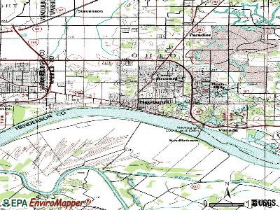 Newburgh topographic map