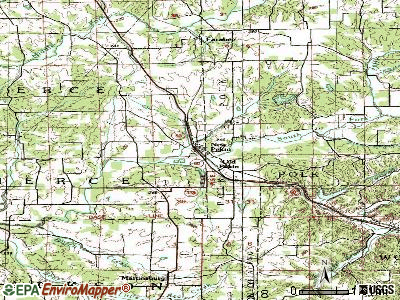 New Pekin topographic map
