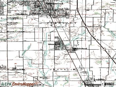 New Whiteland topographic map
