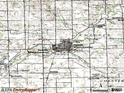 North Manchester topographic map